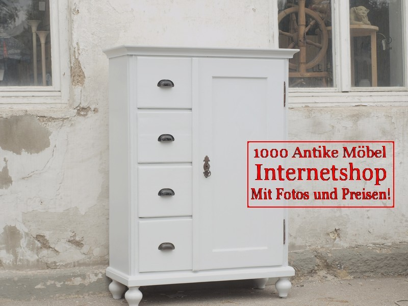 antike weisser shabby chic brotschrank almer k chenschrank. Black Bedroom Furniture Sets. Home Design Ideas