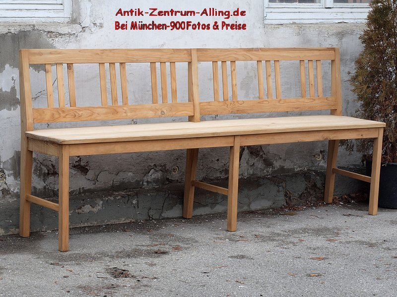 200 cm lange holzbank sitzbank fichtenholz massiv alte antike bauernm bel internetverkauf. Black Bedroom Furniture Sets. Home Design Ideas