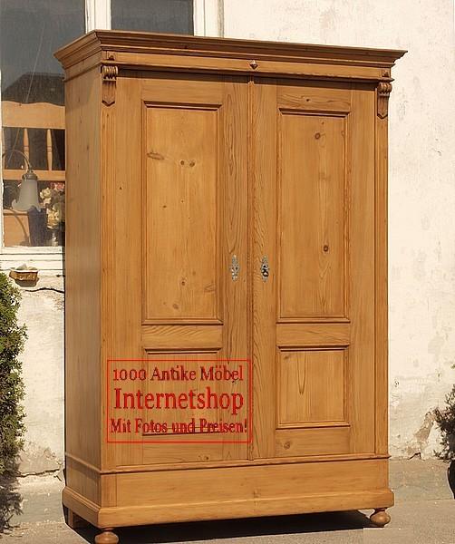 kleiderschr nke alter antiker kleiderschrank bauernm bel bauernschrank massivholzm bel um 1890. Black Bedroom Furniture Sets. Home Design Ideas