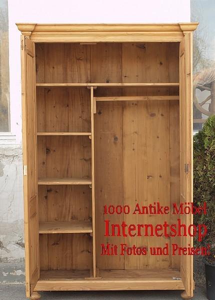 zweit riger alter bauernschrank antiker kleiderschrank massivholzm bel um 1900 alte antike. Black Bedroom Furniture Sets. Home Design Ideas