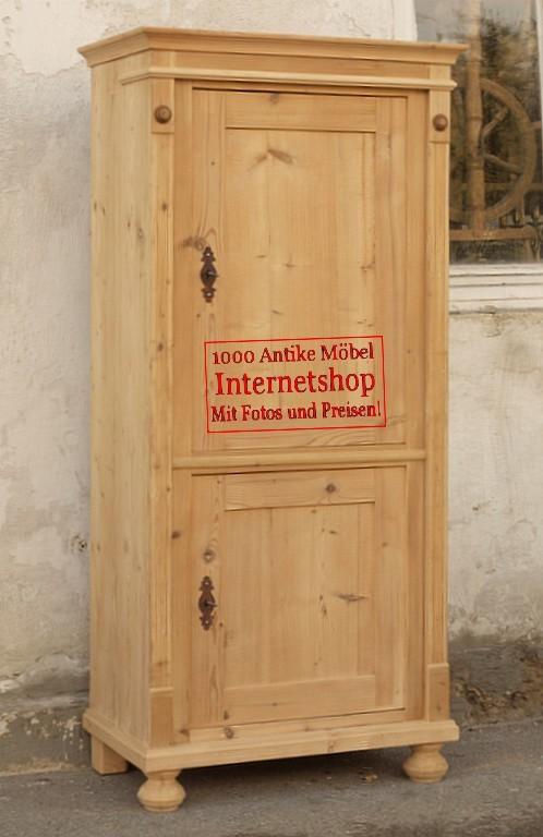 alter antiker schmaler bauernschrank bauernm bel. Black Bedroom Furniture Sets. Home Design Ideas