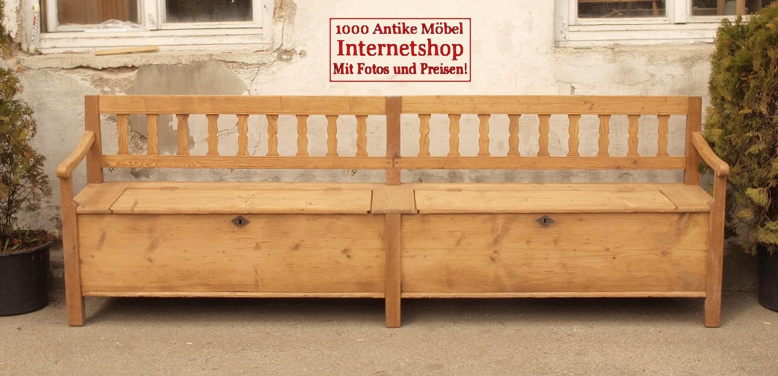 alte antike sitzbank truhenbank bauernbank holzbank bank. Black Bedroom Furniture Sets. Home Design Ideas