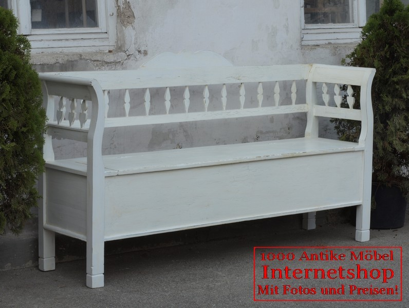 alte antike shabby chick bank truhenbank gartenbank holzbank fichte sitzbank alte antike. Black Bedroom Furniture Sets. Home Design Ideas