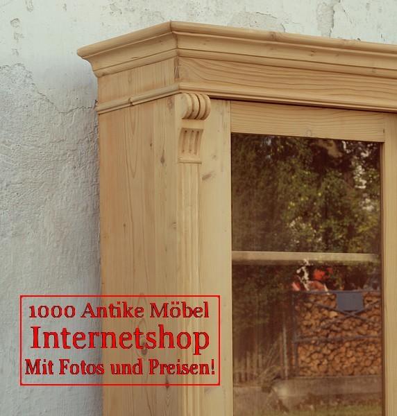 Vitrine vitrinenschrank bauernvitrine massivholzm bel - Alte vitrinenschra nke ...
