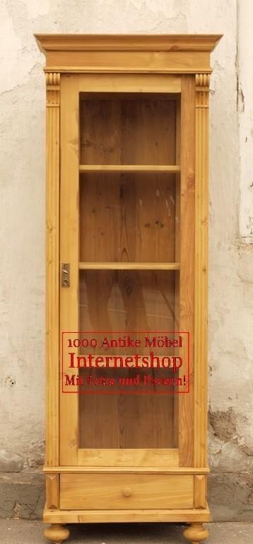 Alte antike vitrine vitrinenschrank bauernvitrine - Alte vitrinenschra nke ...