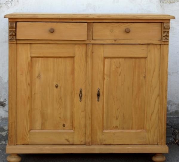 alte antike anrichte k chenschrank geschirrschrank weichholzm bel fichtenholz alte antike. Black Bedroom Furniture Sets. Home Design Ideas