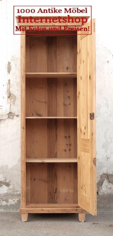 alter kleiderschrank brotschrank schmale schrank aus massiver fichte besenschrank alte antike. Black Bedroom Furniture Sets. Home Design Ideas