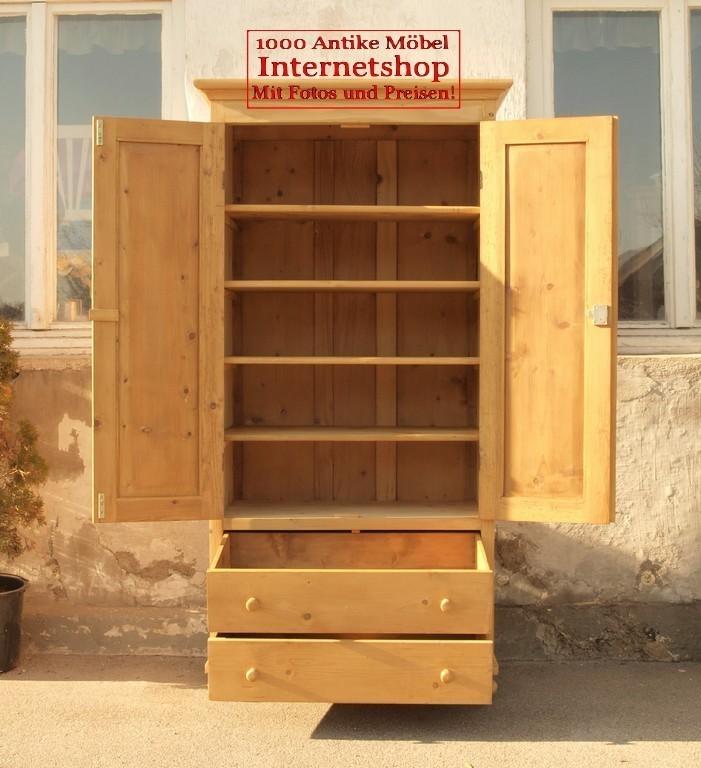 schmaler kleiderschrank w scheschrank weichholzm bel alte antike bauernm bel internetverkauf. Black Bedroom Furniture Sets. Home Design Ideas