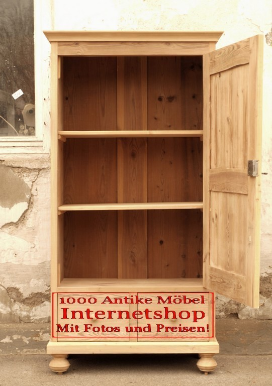 kleiderschr nke orginal bauernschrank kleiderschrank massivholzm bel fichtenholz um 1880. Black Bedroom Furniture Sets. Home Design Ideas