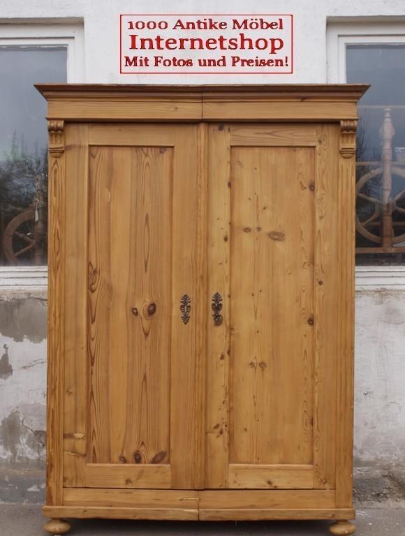 alter antiker bauernschrank kleiderschrank massivholzschrank fichtenholz alte antike. Black Bedroom Furniture Sets. Home Design Ideas