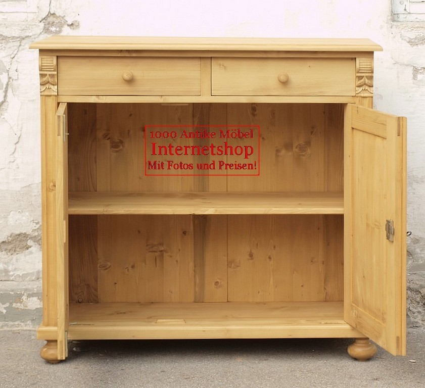 schmale k chenanrichte geschirrschrank bauernm bel fichtenholzm bel alte antike bauernm bel. Black Bedroom Furniture Sets. Home Design Ideas