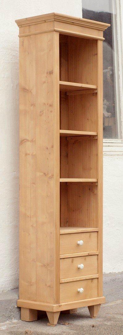 pre3s 49 cm langes regal bauernregal b cherregal mit schubladen alte antike bauernm bel. Black Bedroom Furniture Sets. Home Design Ideas