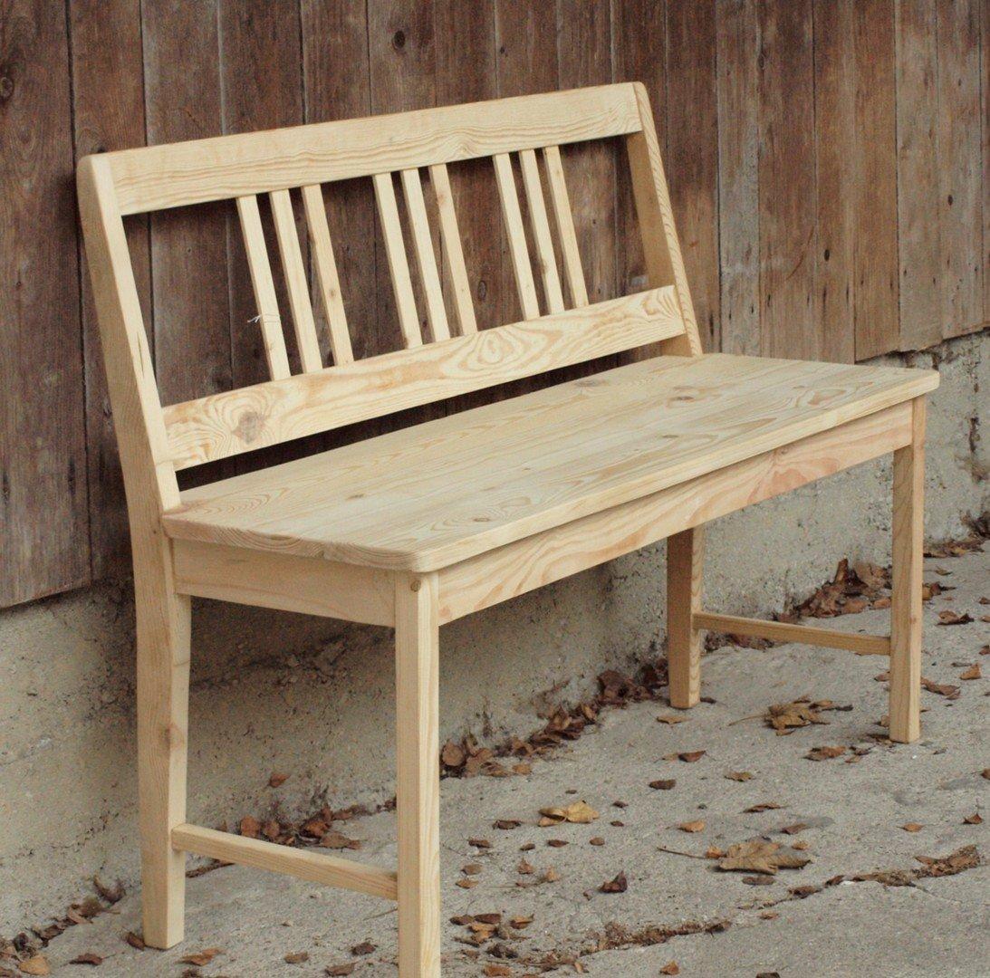 120 cm massive fichtenholz sitzbank bank alte antike. Black Bedroom Furniture Sets. Home Design Ideas