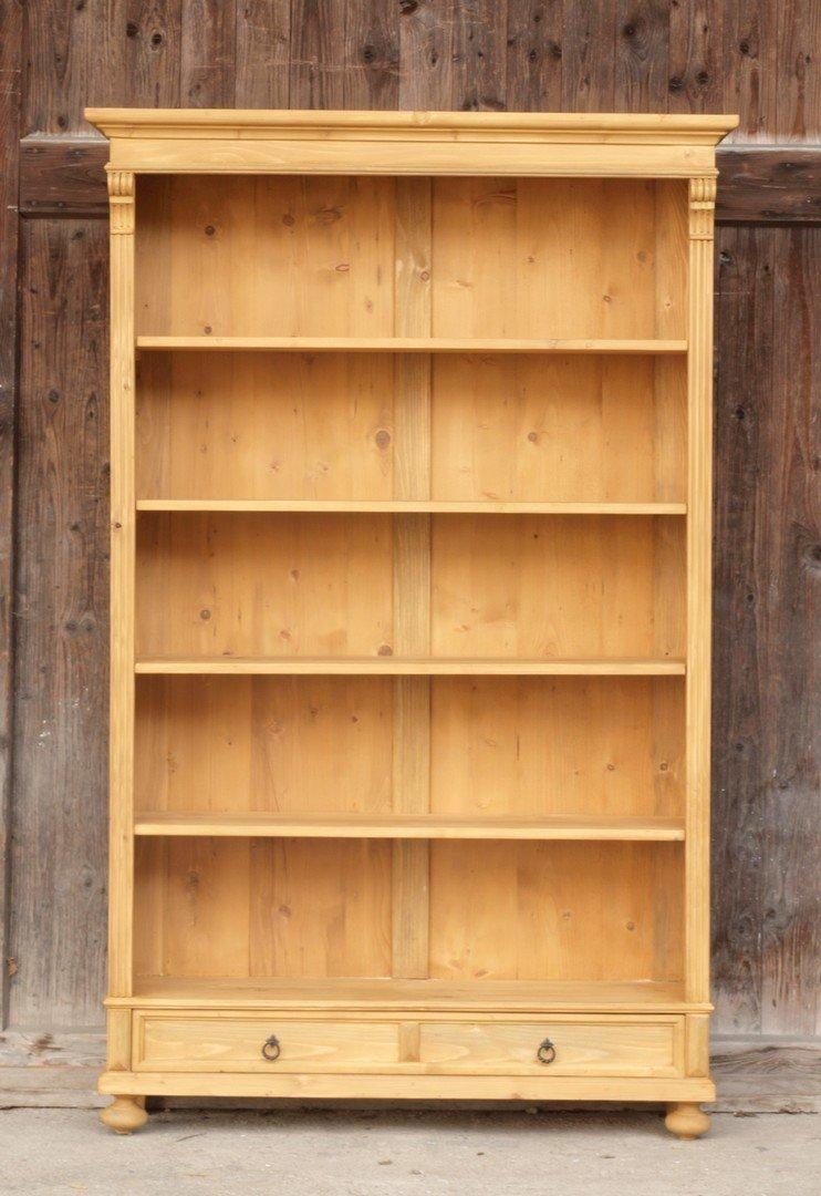 rre119 25s 119 cm langes b cherregal massivholzregal katalog. Black Bedroom Furniture Sets. Home Design Ideas
