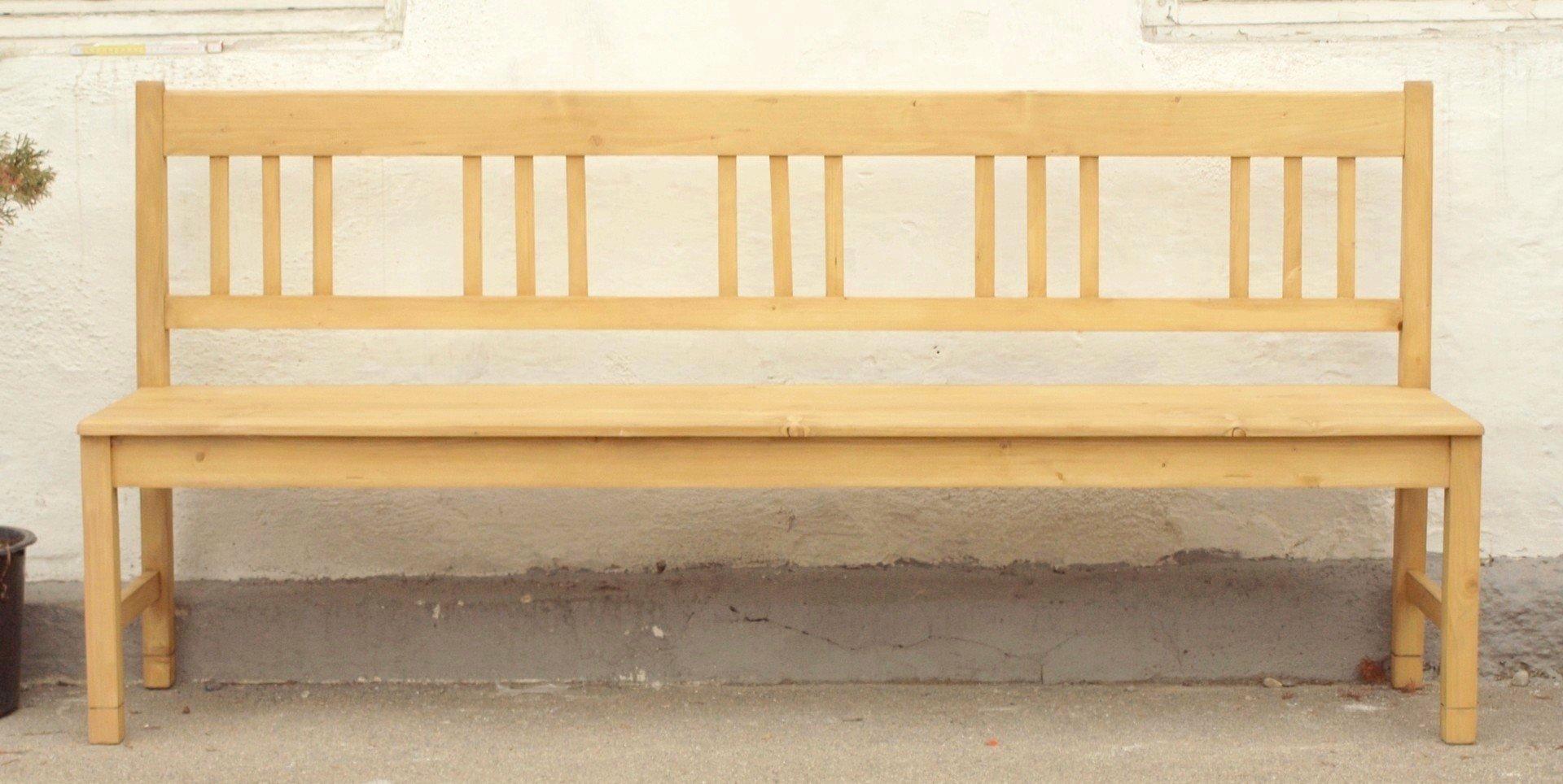 200 cm lange massiv fichtenholz sitzbank alte antike bauernm bel internetverkauf. Black Bedroom Furniture Sets. Home Design Ideas