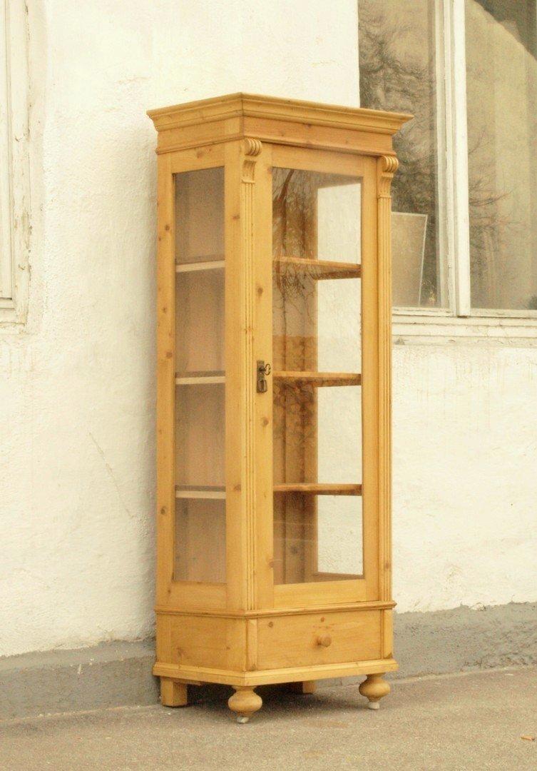 vitrine im gr nderzeitstil aus altem holz gefertigt alte. Black Bedroom Furniture Sets. Home Design Ideas