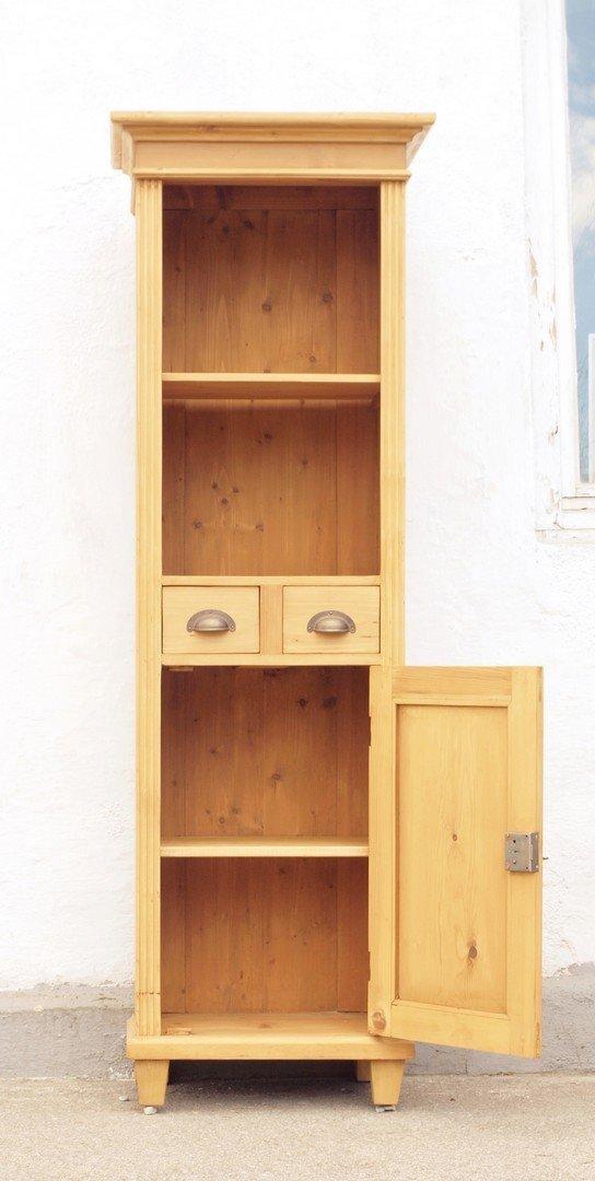 pre2s1t 57 cm langes bauernregal b cherregal mit 2 schubladen und 1 t re alte antike. Black Bedroom Furniture Sets. Home Design Ideas