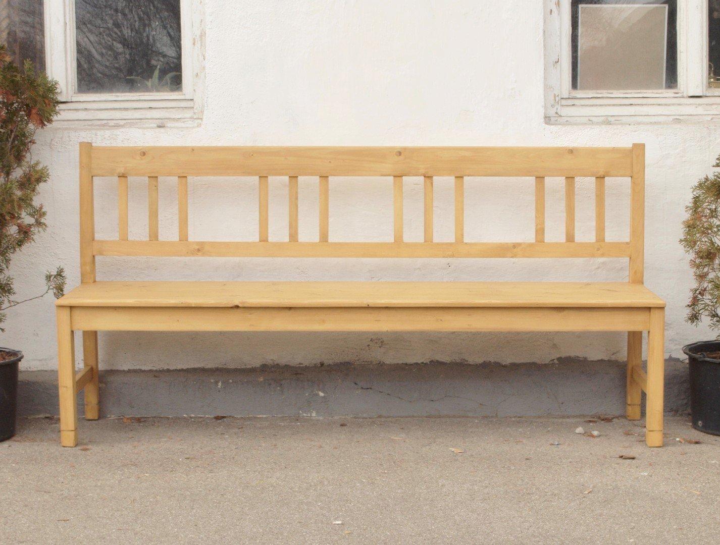 190 cm lange massive fichtenholz gartenbank holzbank. Black Bedroom Furniture Sets. Home Design Ideas