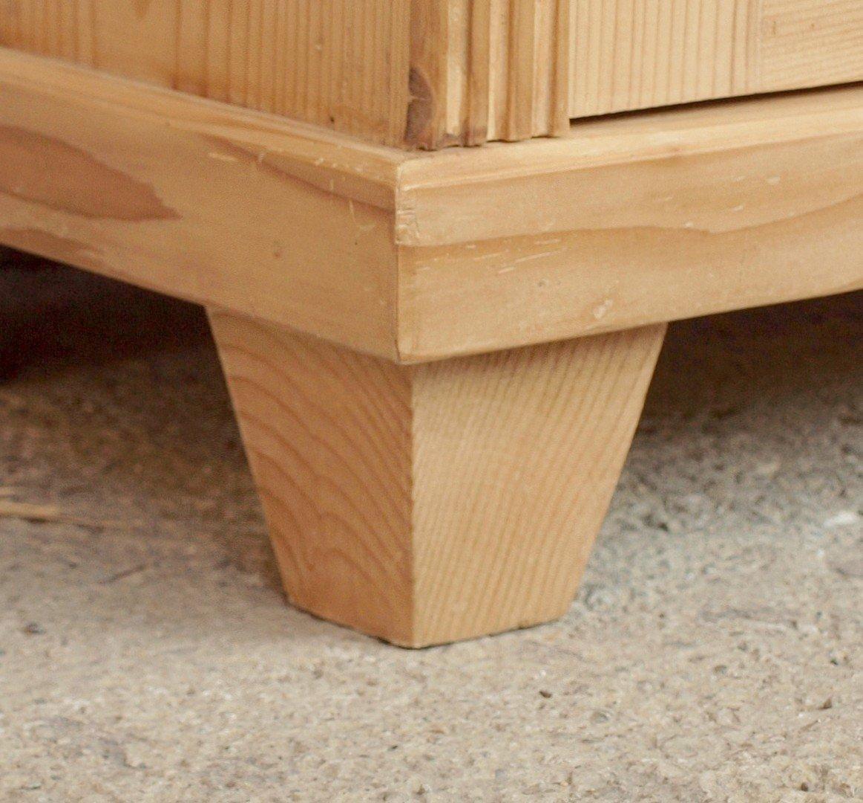 Schmaler bauernschrank dielenschrank massivholz fichte for Schmaler schreibtisch aus holz
