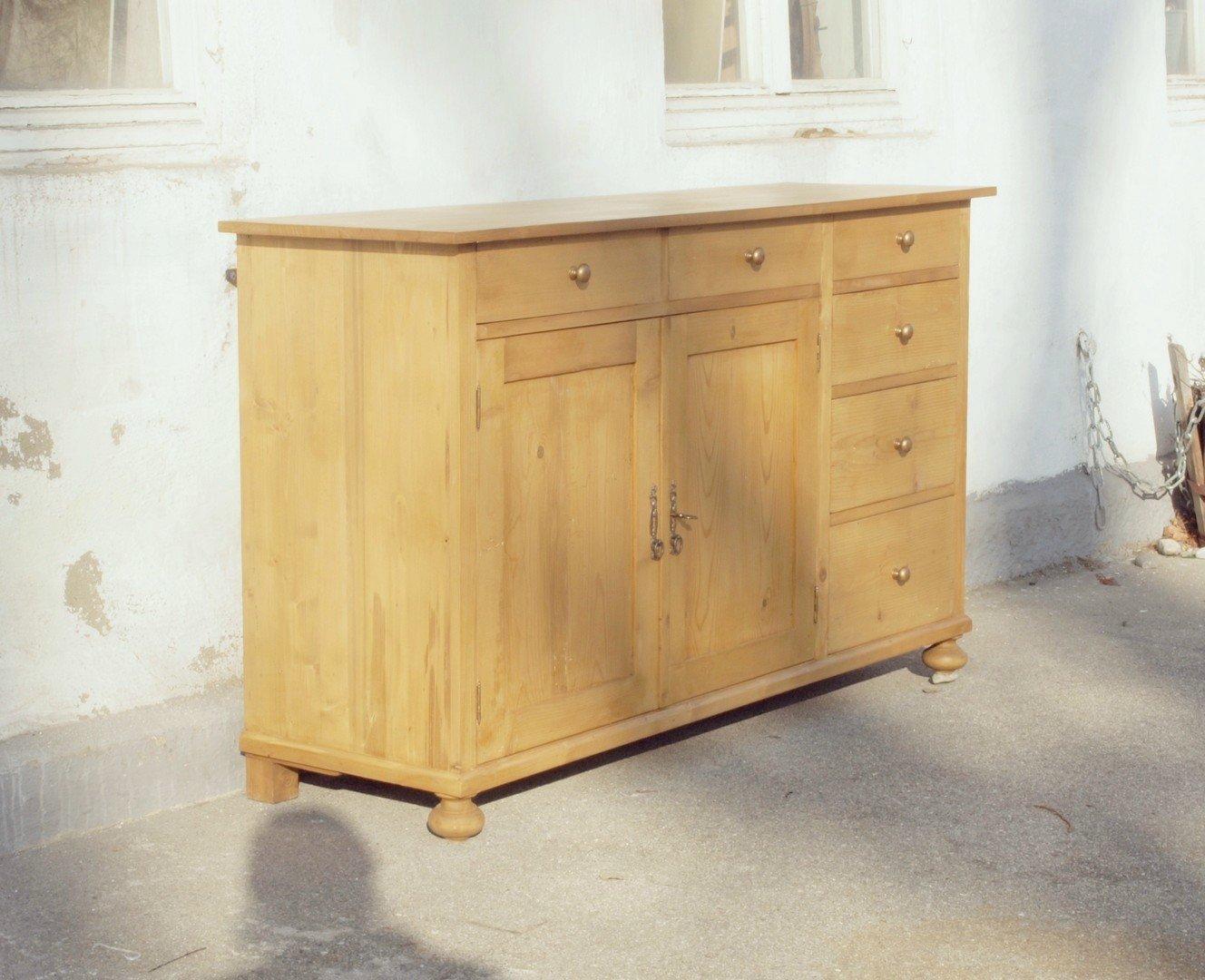 a161s 161cm lange anrichte kommode bauernkommode weichholz. Black Bedroom Furniture Sets. Home Design Ideas