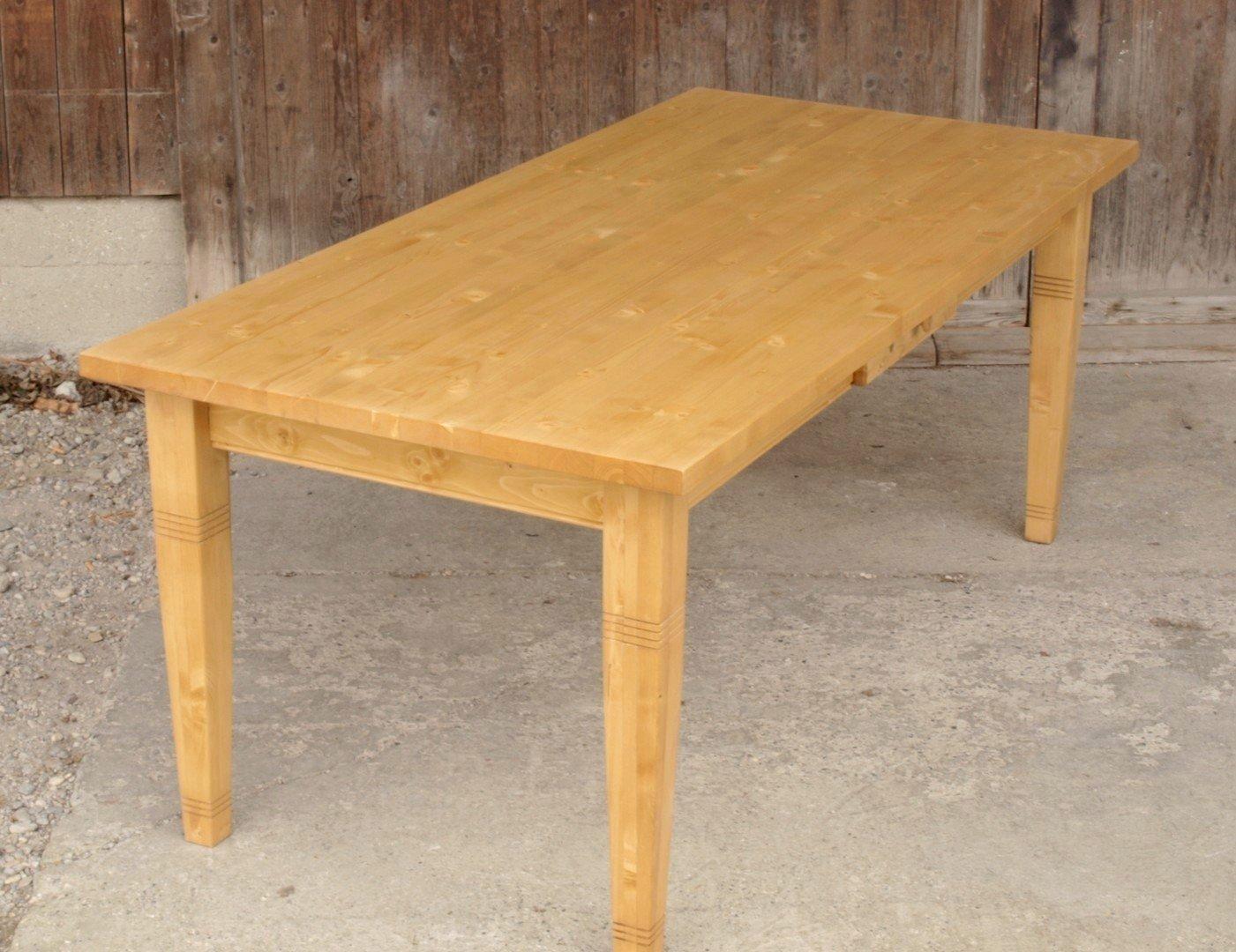 kti200q esstisch tisch massivholz fichte 200 x 95 cm nachbau alte antike bauernm bel. Black Bedroom Furniture Sets. Home Design Ideas