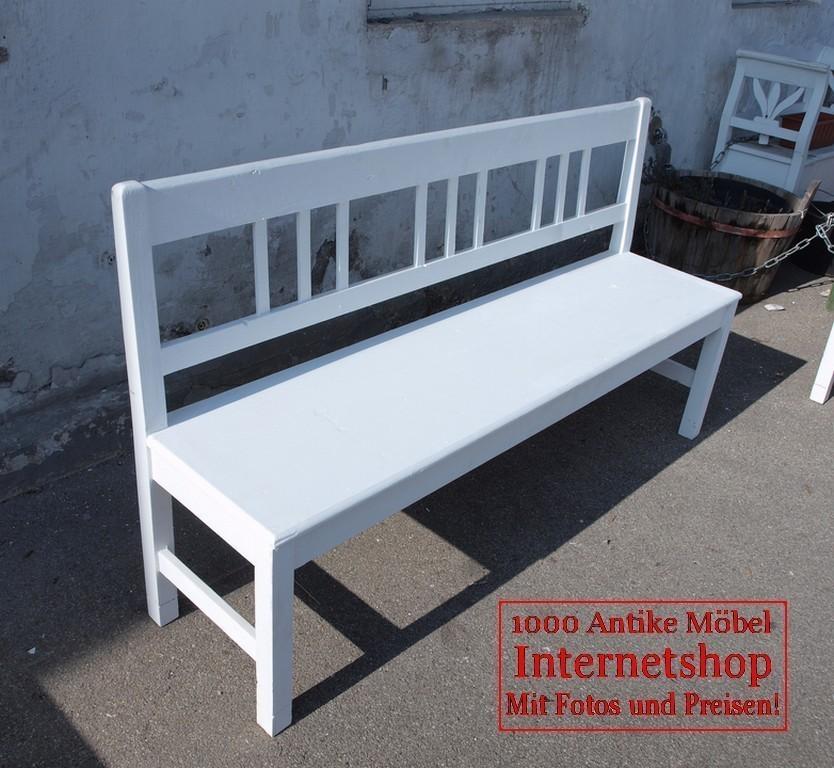 160cm wei e shabby chic bank gartenbank fichte sitzbank alte antike bauernm bel internetverkauf. Black Bedroom Furniture Sets. Home Design Ideas