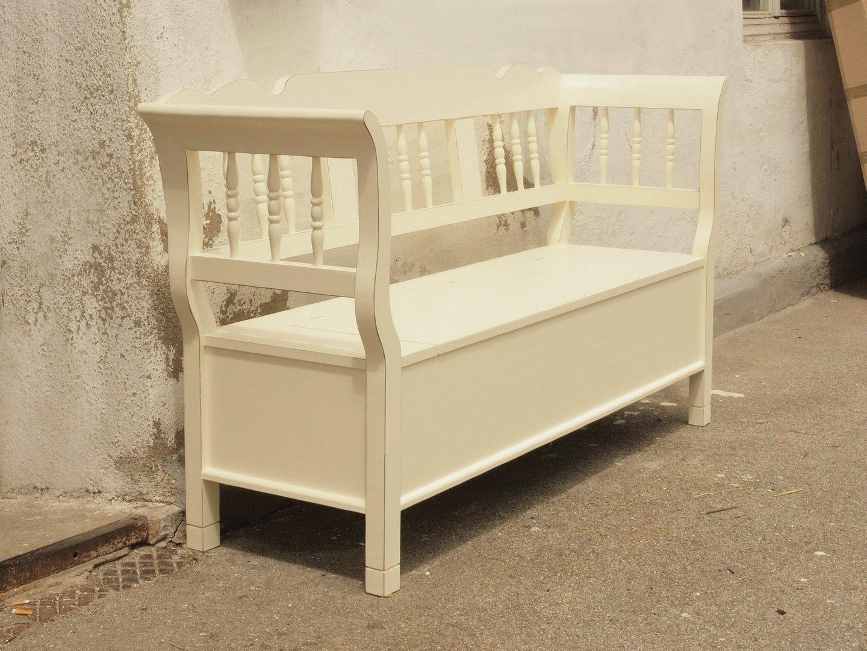 180 cm truhenbank weicholz sitzbank holzbank bauernbank. Black Bedroom Furniture Sets. Home Design Ideas