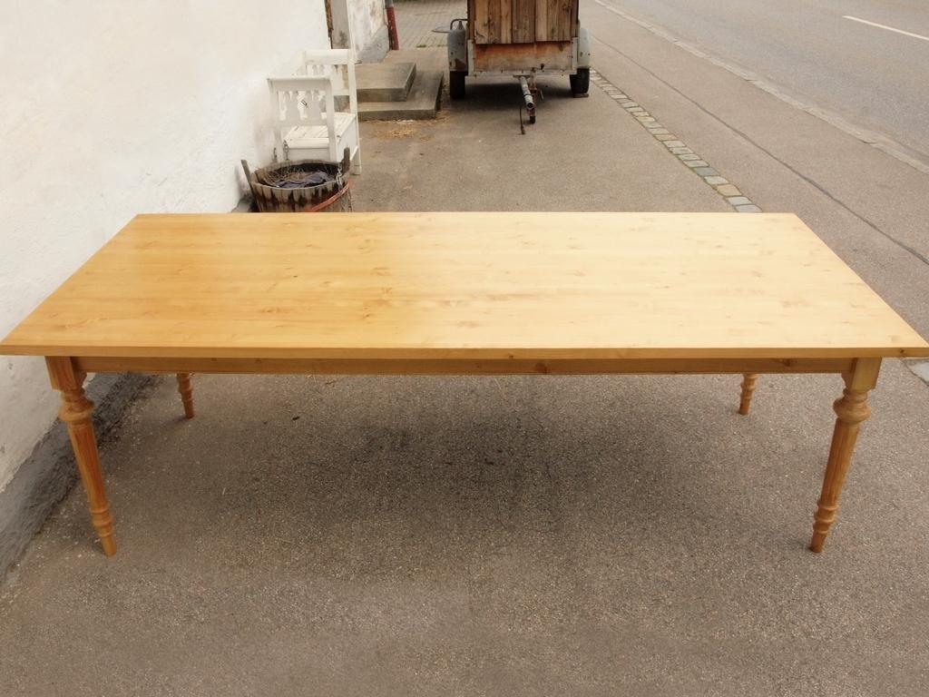 kti250g esstisch tisch massivholz fichte 250 x 100 cm nachbau alte antike bauernm bel. Black Bedroom Furniture Sets. Home Design Ideas