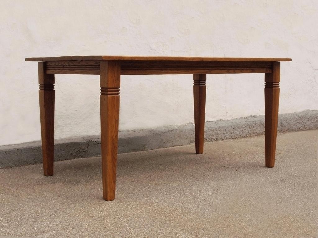 esstisch tisch massivholz eiche 160 x 90 cm quadratische. Black Bedroom Furniture Sets. Home Design Ideas