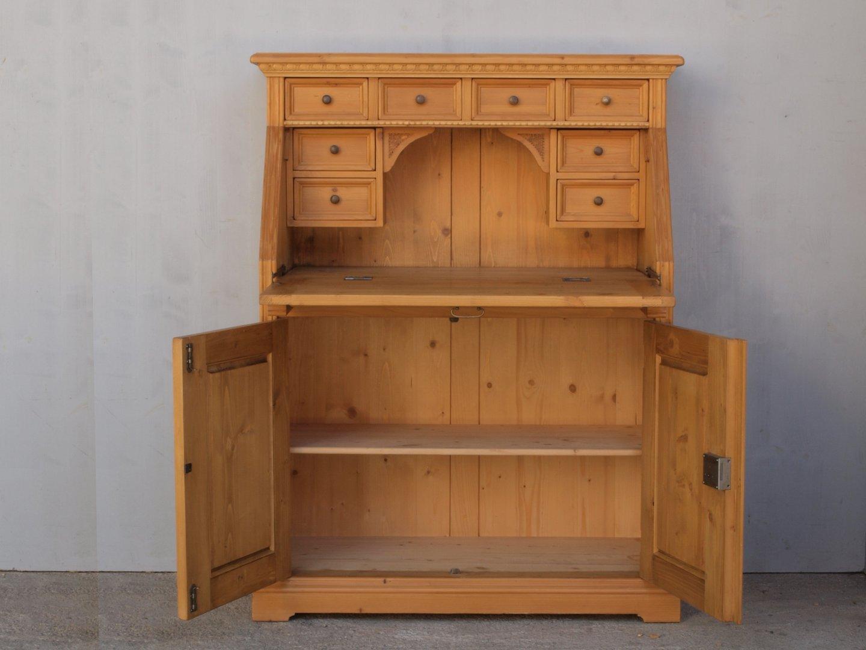 alter sekret r fichte massivholz mit 8 schubladen alte antike bauernm bel internetverkauf. Black Bedroom Furniture Sets. Home Design Ideas