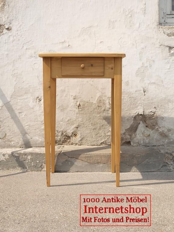 kleiner tisch mit schublade fichte bauernm bel und antike beschl ge. Black Bedroom Furniture Sets. Home Design Ideas