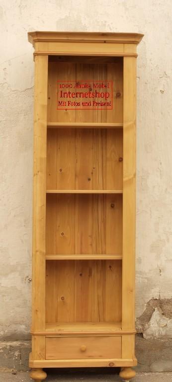 b cherregal schmales bauernregal bauernm bel weichholzm bel nachbau nicht antik bauernm bel. Black Bedroom Furniture Sets. Home Design Ideas
