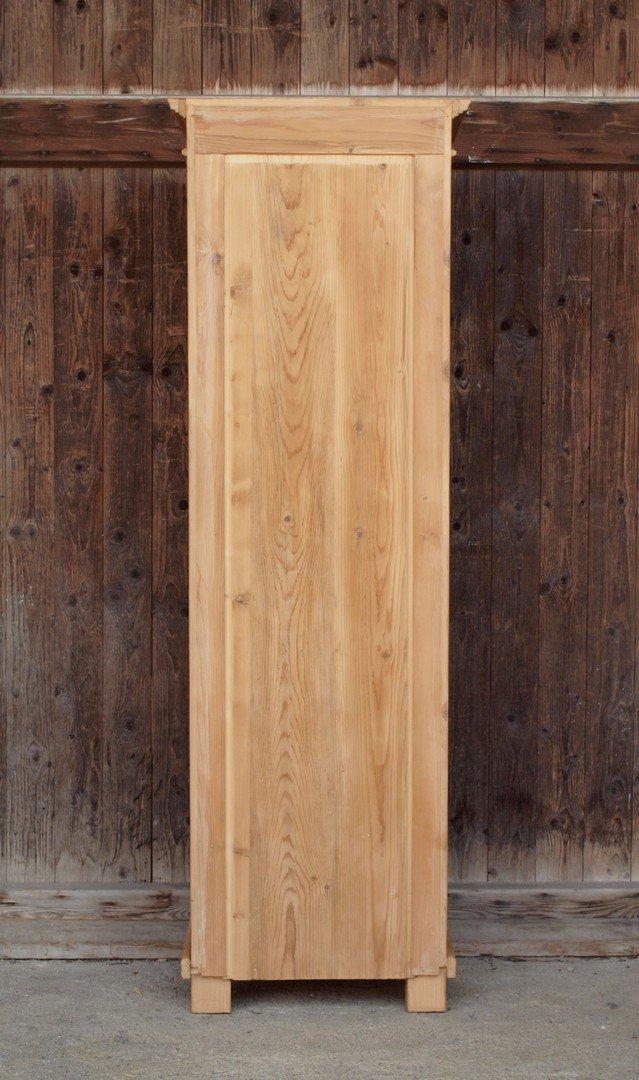 pvi2s2t178 schmale vitrine mit 2 schubladen fichtenholz bauernm bel nachbau aus altem holz. Black Bedroom Furniture Sets. Home Design Ideas